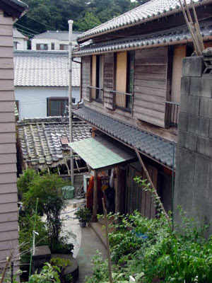 Wooden houses on Shinojima.