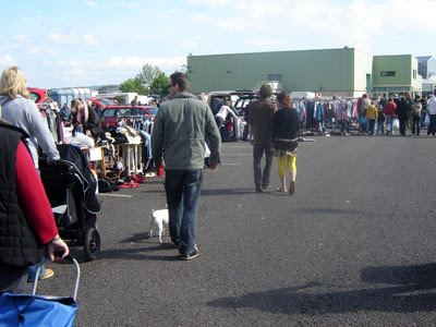 Exeter car boot sale.