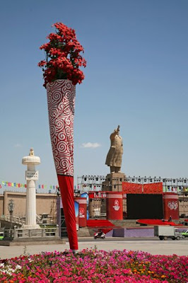 Olympic Torch in Kashgar Xinjiang, China