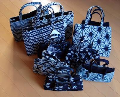 Lady's Handbags From Arimatsu Shibori