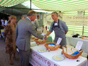 Prince Charles at Cullompton Farmers Market