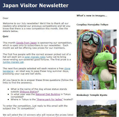 Japan Visitor July Newsletter