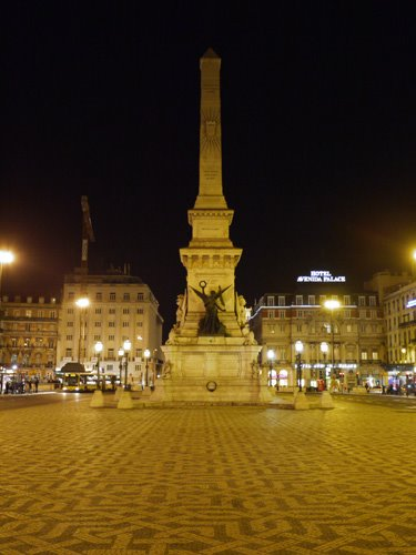 Restauradores Square By Night
