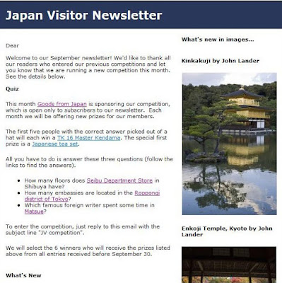Japan Visitor September Newsletter