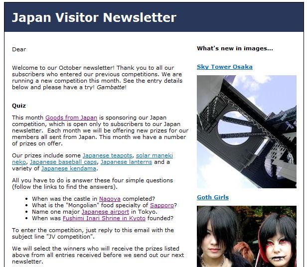 Japan Newsletter