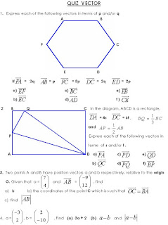 FREE MATH WORKSHEET, VECTOR
