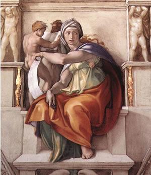 Michelangelo. La Sibilla di Delfi