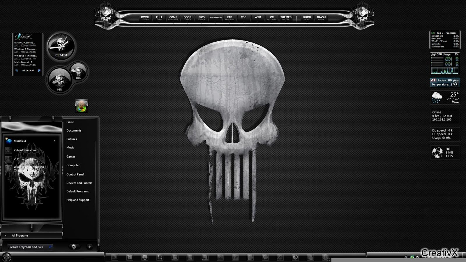 skull wallpaper for windows 7 - photo #48