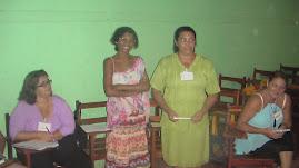 Treinamento de Midia com as Mulheres que compõem o comite politico da AMA.