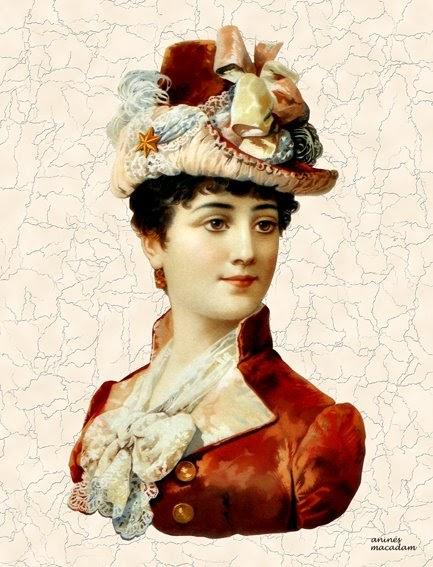 Aninés Macadam: 0002-Mujer victoriana