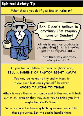 Warning Poster Against Crotchety Old Atheists