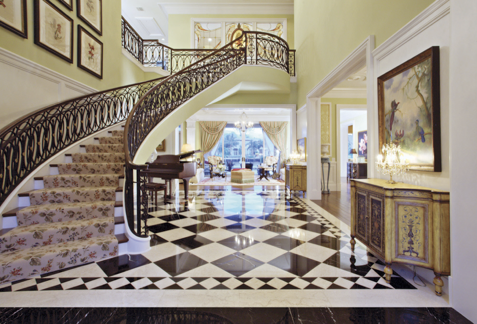 Beautiful Curved Staircases In Florida Luxury Stairs Gallery