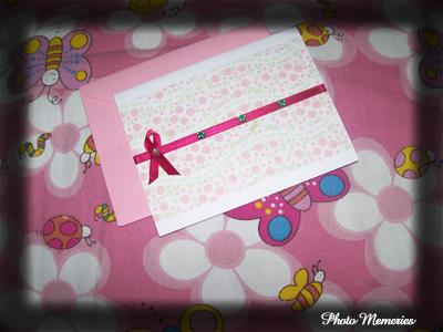 pink handmade card