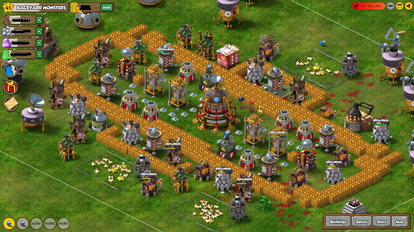 Facebook Backyard Monsters Best Base Defense Designs ...