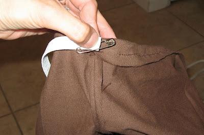 putting elastic in shorts