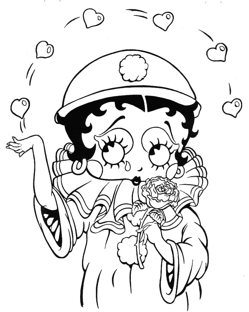 betty boop pictures archive  bbpa betty boop coloring