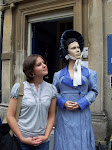Me and Jane Austen pondering a new story...