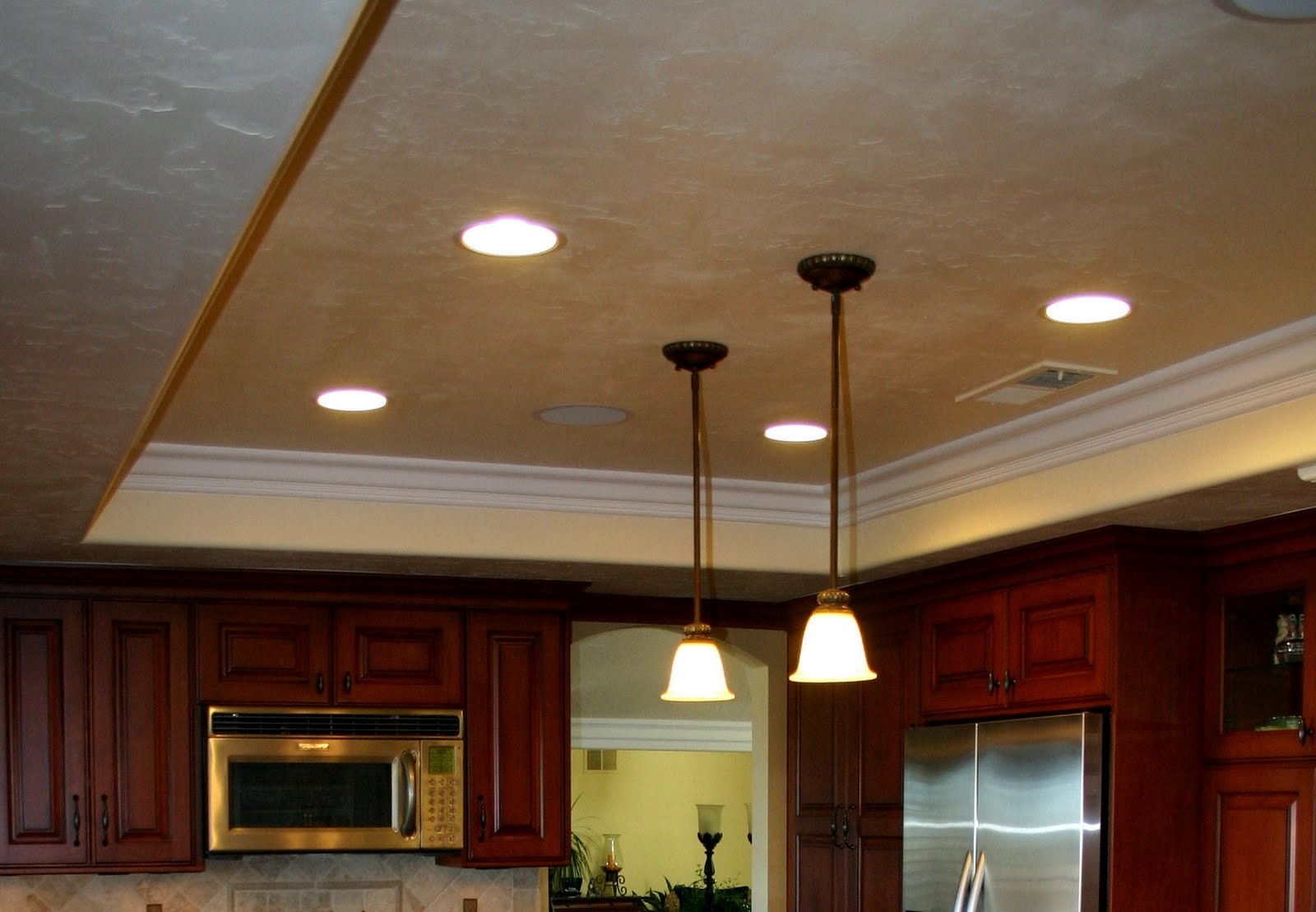 Kitchen ceiling ideas modern diy art designs - Wondrous kitchen ceiling designs ...