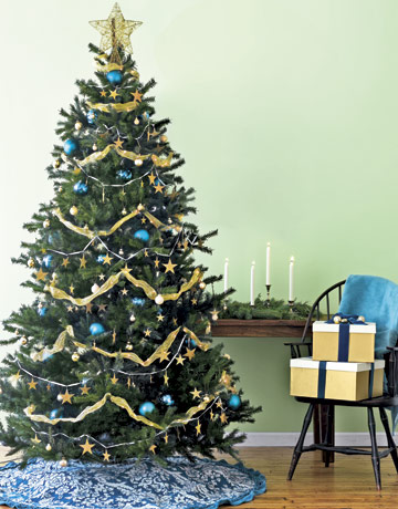 turquoise and gold - Blue And Gold Christmas Decorations