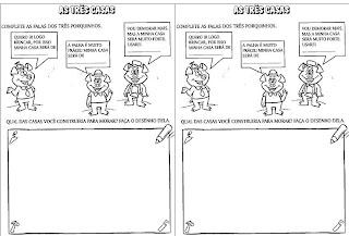 Pedagogiccos Atividades Os Tres Porquinhos