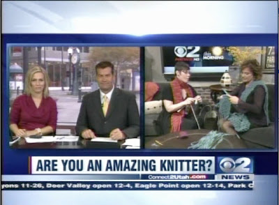 """Are You An Amazing Knitter?"" Screenshot of Liat Gat's KUTV Appearance"