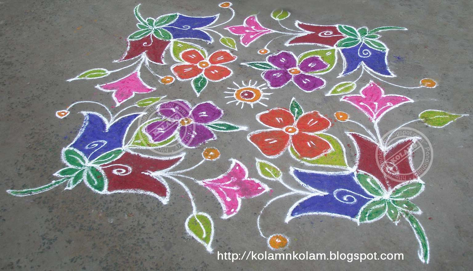 Part 05 New Year 2011 Kolam