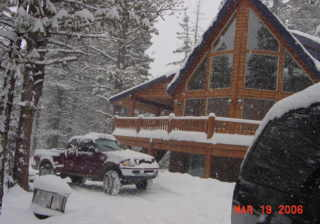 Our cabin in the snow