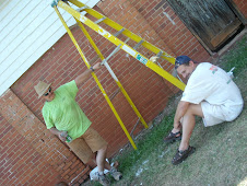 Good job making sure the ladder doesn't fall, Andy!