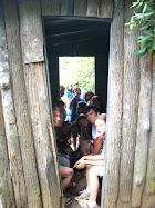 Squeezed in a hut