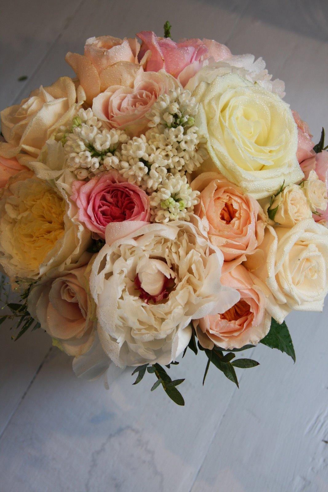 Wedding Bouquet Of English Garden Roses