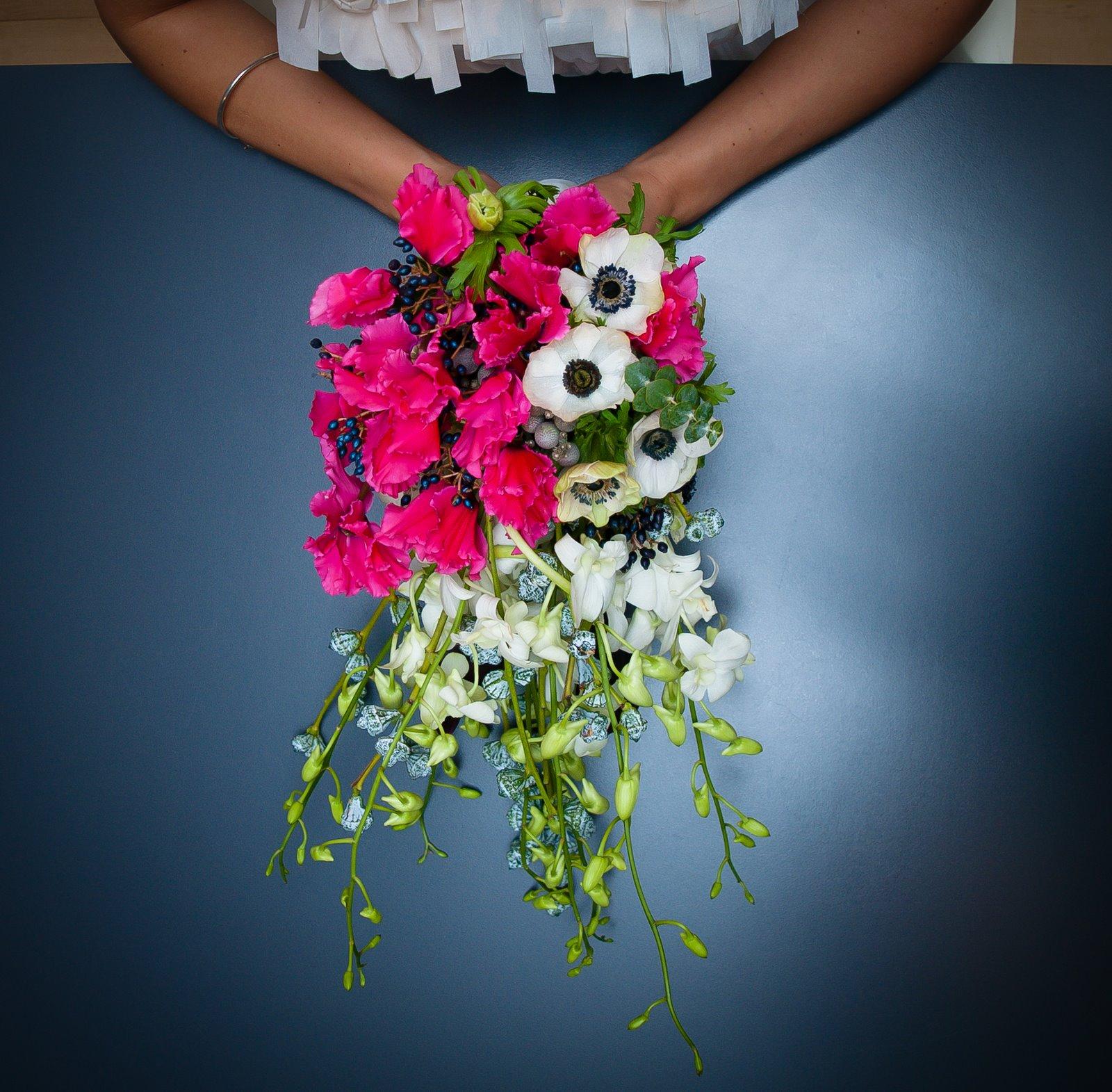 Wedding Flowers Lancashire: The Flower Magician: Sensational Raspberry And Ivory