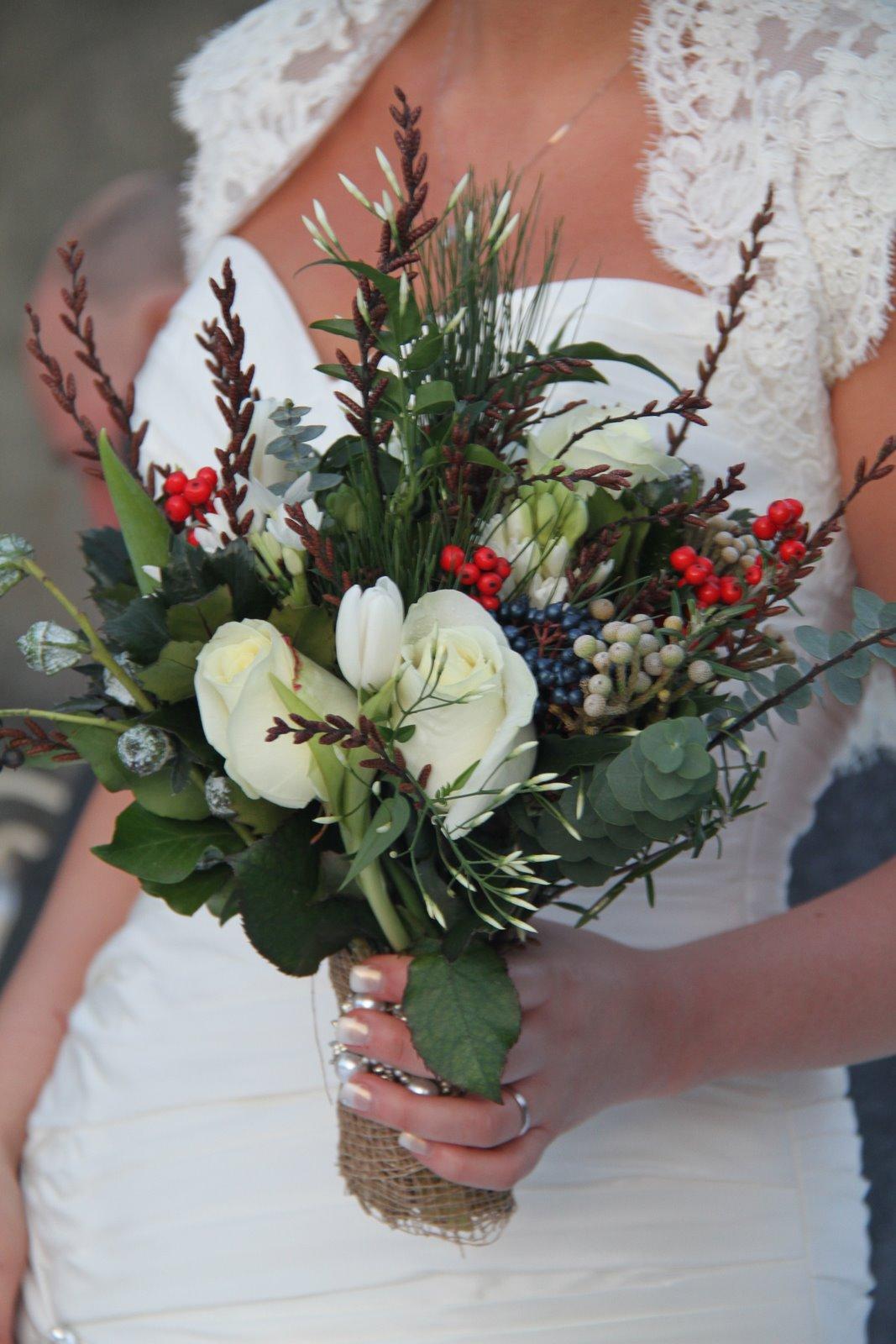 The Flower Magician: Winter Rustic Vintage Wedding Bouquet