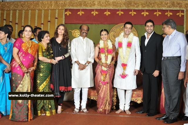 soundarya rajinikanth wedding Reception photos-Aishwarya rai