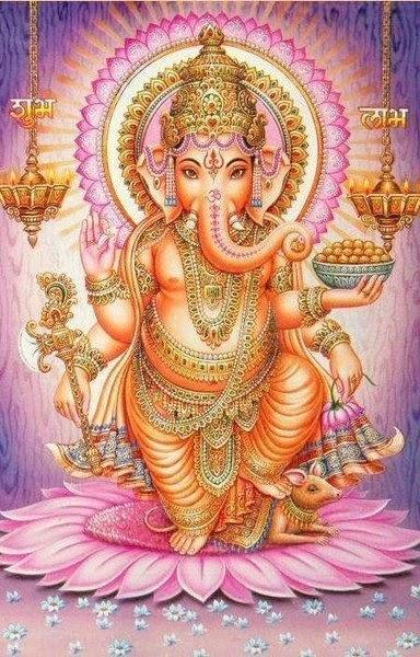 Sanskrit Of The Vedas Vs Modern Sanskrit: IMAGENS ASTRAIS: N 17: Ganesh ( Deus Hindu Da Prosperidade