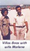 أنطونيو مع زوجته ، توفي عام 1992
