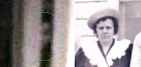 مقارنة بين وجه امرأة عاشت في ذلك المنزل وصورة الوجه مقربة