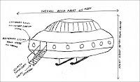 رسم توضيحي يبين طبق طائر من إفادات أحد الشهود