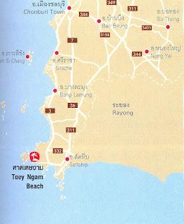 Toey Ngam Beach Map at thailand-beach.blogspot.com