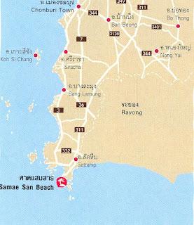 Samae San Beach Map at thailand-beach.blogspot.com