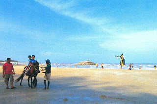 Horse ridding around Puek Tien Beach