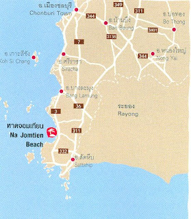 Na Jomtien Beach Map at thailand-beach.blogspot.com