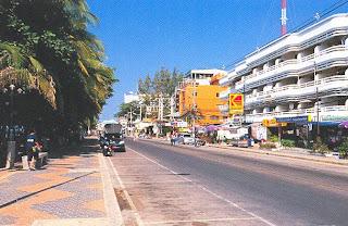 The beach road of pattaya
