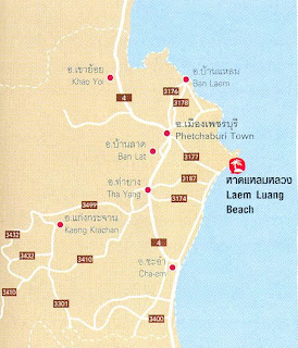 Laem Luang Beach Map at thailand-beach.blogspot.com