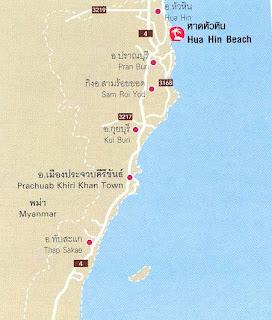 Hua Hin Beach Map at thailand-beach.blogspot.com