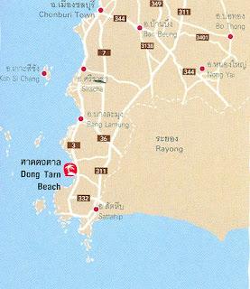 Dong Tarn Beach Map at thailand-beach.blogspot.com