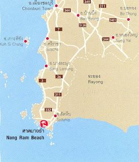 Nang Ram-Nang Rong Beach Map at thailand-beach.blogspot.com