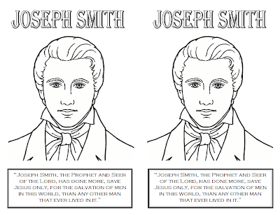 Joseph fielding smith lessons 4 and 5 party invitations for Coloring page of the first vision