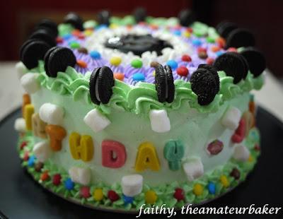 diary of Faithy the baker Chocolate Blueberry Cake my sons