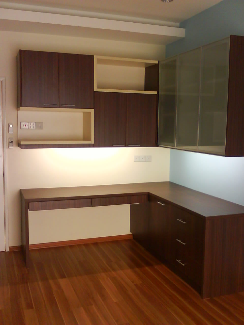 Glass Door Kitchen Cabinet Nook Sets With Storage Design Kuala Lumpur: Study