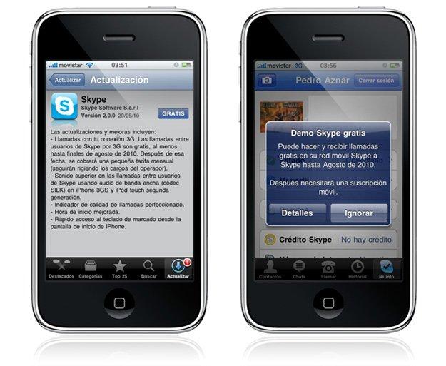 skype para iphone gratis